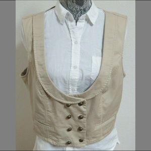 Sz XL Tan Xhilaration Womens Cotton #848 Suit Vest